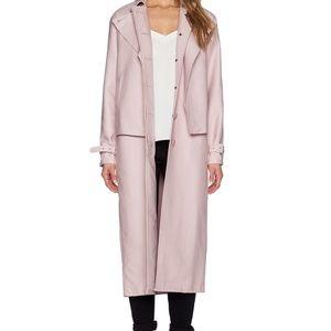 Brand new Tibi trench coat in blush color